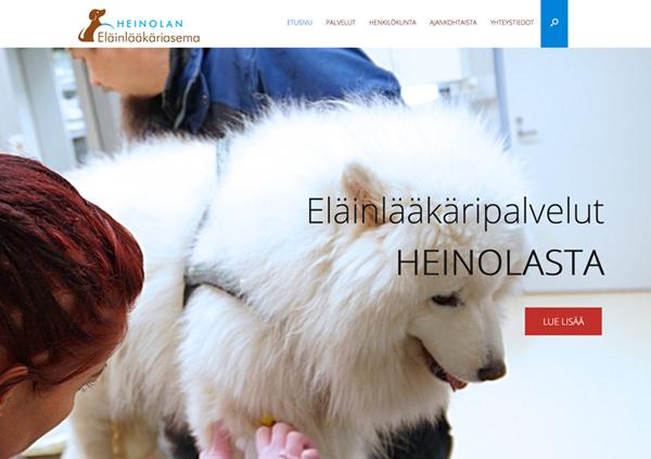 nettisivut mainostoimisto Lahti - Heinolan eläinlääkäriasema