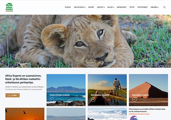 nettisivut mainostoimisto Idus Lahti - AfricaExperts
