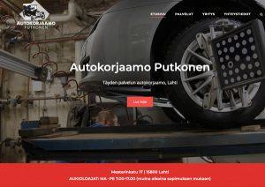 verkkosivut Lahti mainostoimisto Idus - Autokorjaamo Putkonen